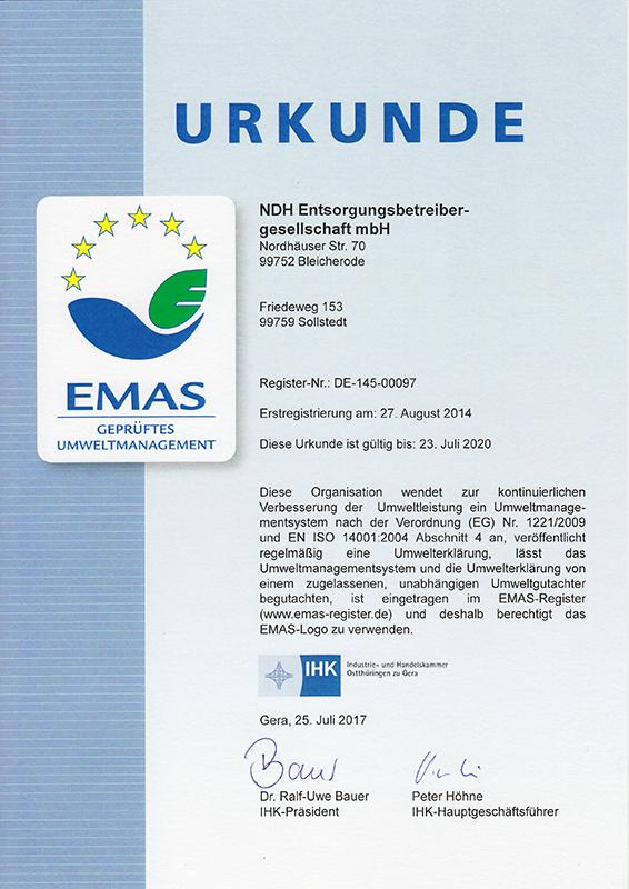 Zertifikate - NDH-E
